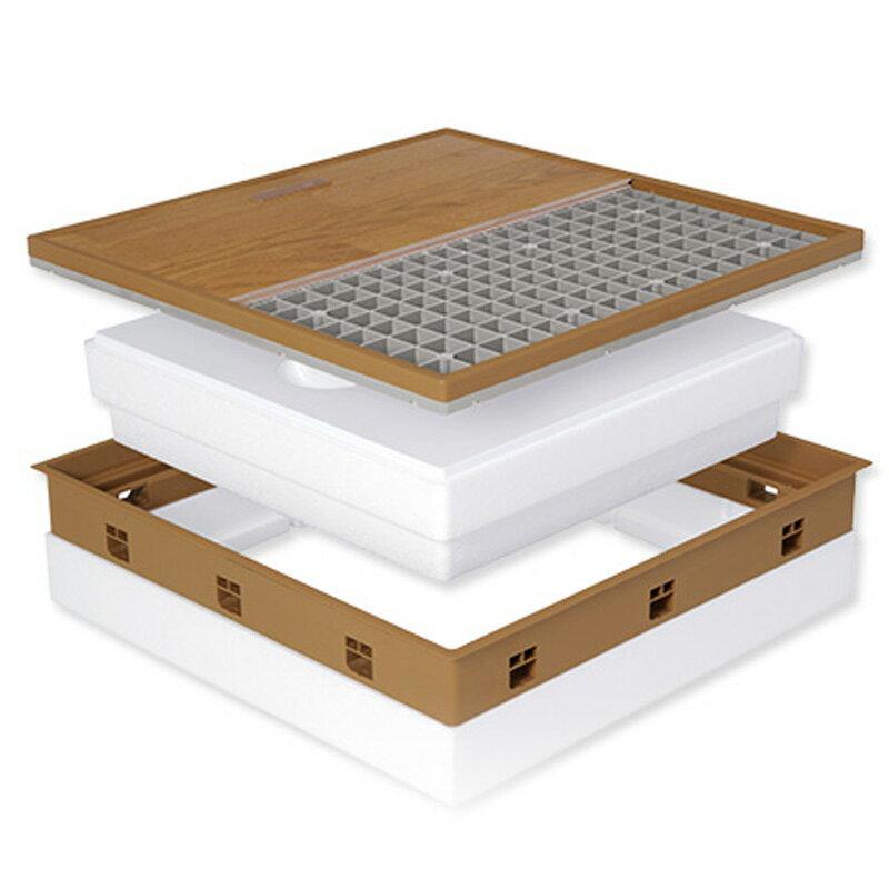 【配送条件あり】高気密型 床下点検口 (高断熱型450×600)フローリング合わせT 板厚12mm専用 SPF-R45F12-BL2-MB 城東 アミ【代不】