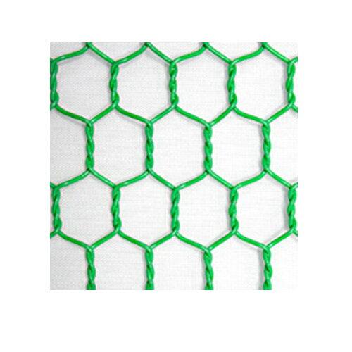 ビニール亀甲金網  (緑) 線径番18 線径1.5mm 目合20mm 幅910mm×長さ15m 【光洋金網】【代引不可】