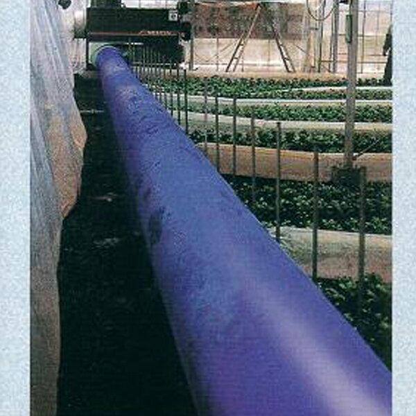 クロスラムダクト ビニールハウス用温風ダクト 折径90cm×30m  厚0.14mm 極厚 高耐久 長寿命 ブルー カ施【代引不可】
