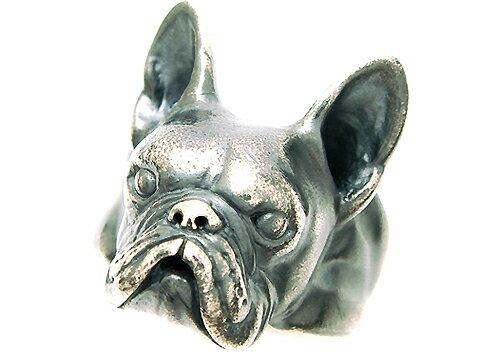 (中)フレンチブルドッグ・ボストンテリア・シルバーリング・犬・Dog Ring・アニマル・動物・銀・指輪・犬リング・シルバー925
