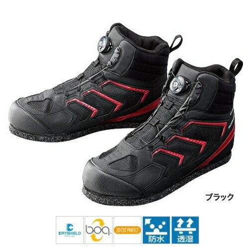 シマノ ドライシールド・3Dカットピンフェルトシューズ(ハイカット) FS-085P 28.0cm ブラック(東日本店)