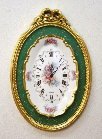 セラミックプレートの壁掛け時計