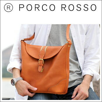 PORCO ROSSO(ポルコロッソ)ベルテッドショルダーバッグ [nouki4]