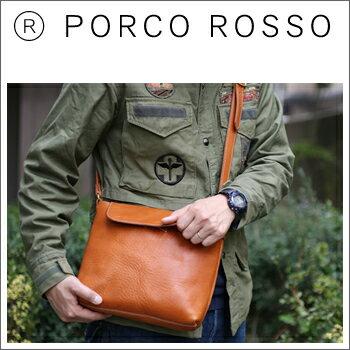 PORCO ROSSO(ポルコロッソ)フラップスクエアショルダーバッグ(Mサイズ)[nouki4]