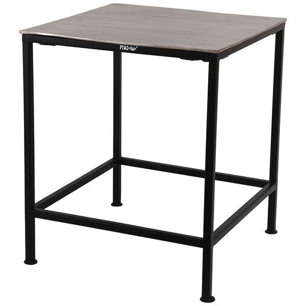 コーヒーテーブル テーブル サイドテーブル おしゃれ 黒 ブラック アルミ スクエア 正方形 スクエアテーブル ベッドルーム 寝室 リビング オランダ ヨーロッパ 人気 ブランド 直輸入 PTMD