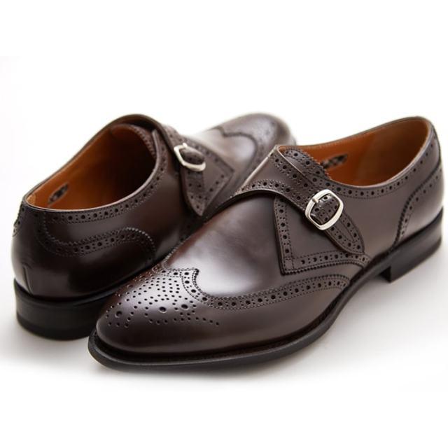 芸能人の愛用する NEWYORKER(ニューヨーカー) NY314 メンズ フォーマル ダークブラウン モンクストラップ ウイングチップ ビジネスシューズ NEWYORKER FOOTWEAR 紳士靴