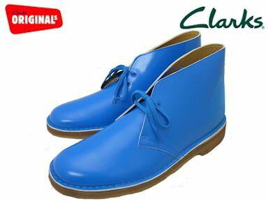 クラークス デザートブーツ メンズ コバルトパテント ブーツ Clarks DESERT BOOT 20352804 COBALT PATENT UK規格