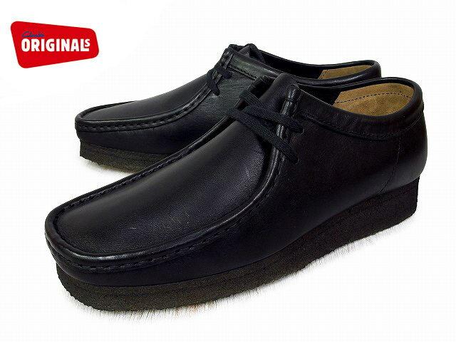 クラークス ワラビー ロー メンズ ブラック レザー ブーツ Clarks WALLABEE LOW 26103756 BLACK LEATHER US規格