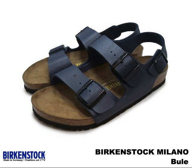 ビルケンシュトック ミラノ メンズ レディース サンダル ブルー BIRKENSTOCK 034751 Milano Blue 幅広