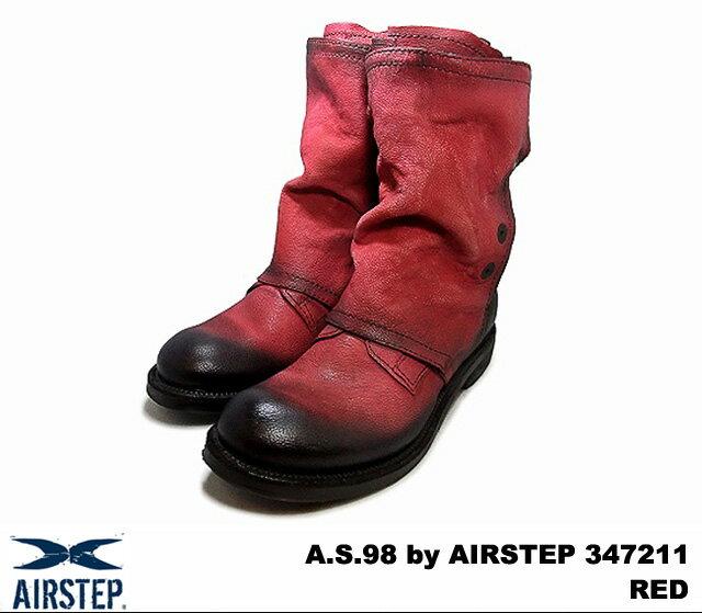 エアーステップ ブーツ レッド レザー メンズ イタリア製 A.S.98 by AIRSTEP 347211 NOVELLO (RED) MADE IN ITALY
