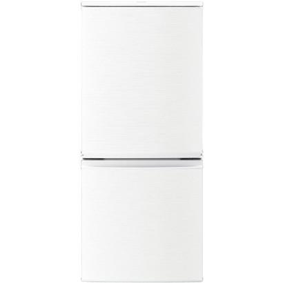 ��料無料】シャープ 冷蔵庫 SJ-D14C-W ホワイト系 �型 2ドア 一人暮ら� �開� 左開� 両扉対応 冷� �熱トップ 137L �������もドア SHARP