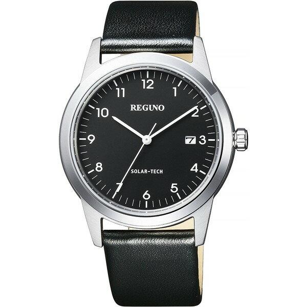 【送料無料】CITIZEN(シチズン) KM3-116-50 ブラック×シルバー レグノ ソーラーテック [ソーラー腕時計(メンズウオッチ)]