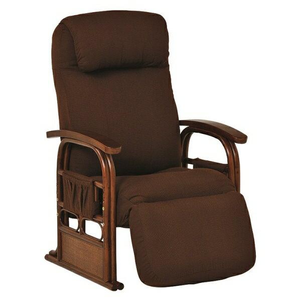 【ギア付き座椅子(ブラウン) RZ-1259BR】[返品・交換・キャンセル不可]