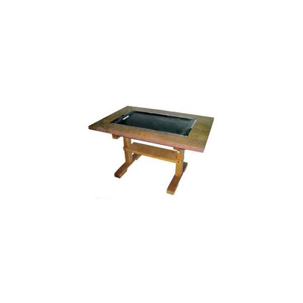 新品 税送料込 イトキン IKK お好み焼きテーブル(木製脚) IM-2150PM LPガス(プロパン)仕様 1500・800・700(mm)