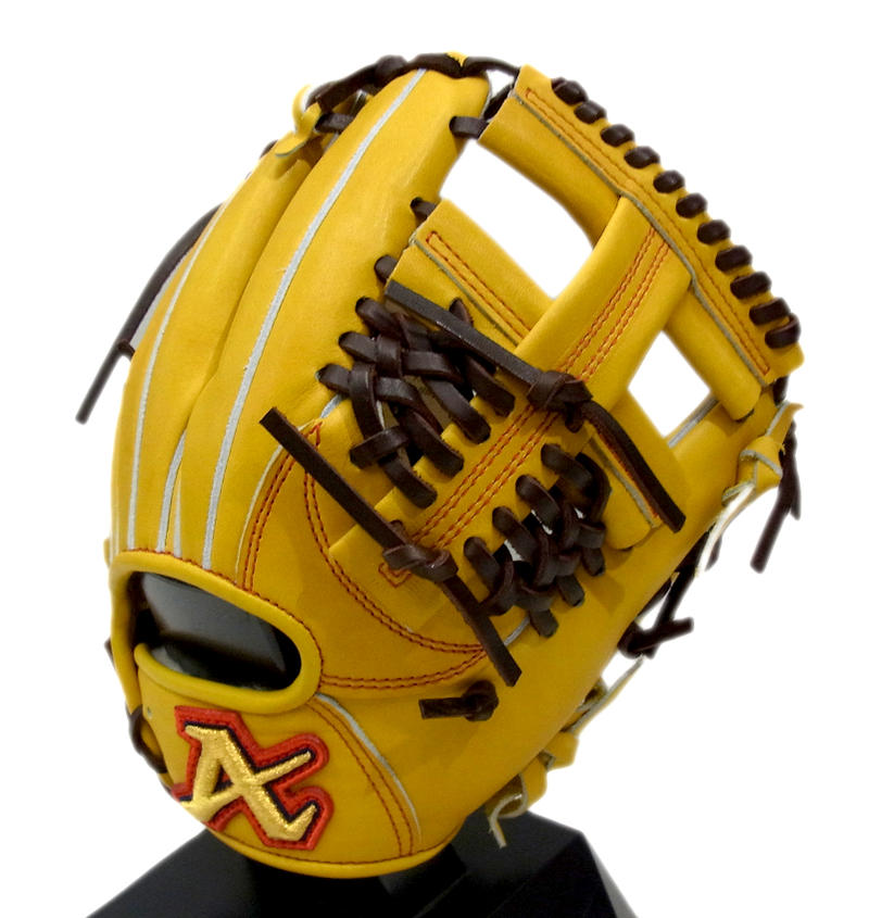 【限定商品】ATOMS(アトムズ) 一般硬式グラブ 内野手用 右投げ用 イエロー AKG-525
