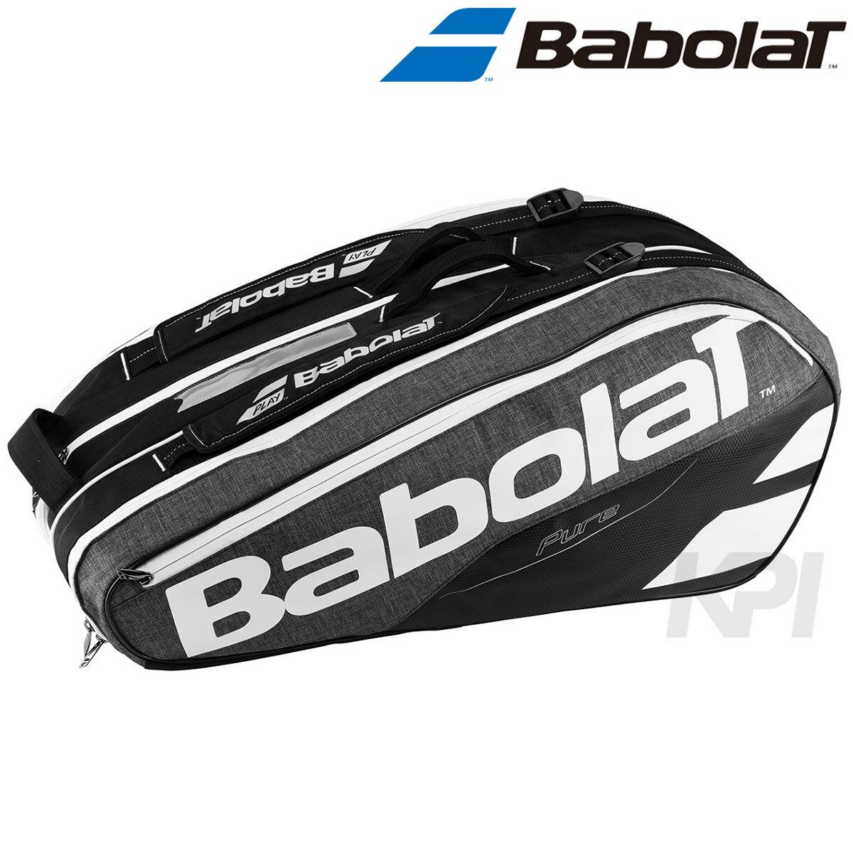 「2017新製品」BabolaT(バボラ)「PURE LINE RACKET HOLDER ×9(ラケットバッグ 9本収納可) BB751134」テニスバッグ【prospo】