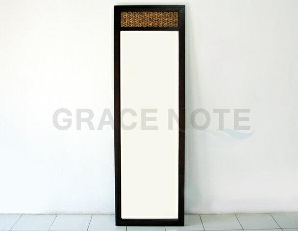 GRACE NOTE  ヒヤシンスミラー(姿見) WMR-02 ウォーターヒヤシンス 鏡 バリ 家具 グレイスノート