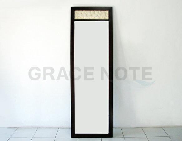 GRACE NOTE  カービングミラー(姿見) SMR-02 マカボニー材 鏡 バリ 家具 グレイスノート