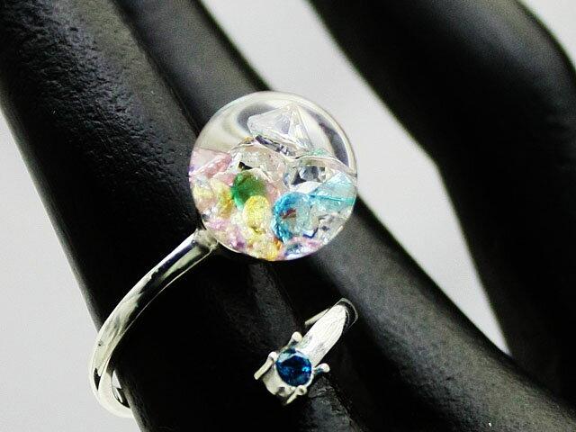 新作Bijou glass Ball Silver Ring【リング】