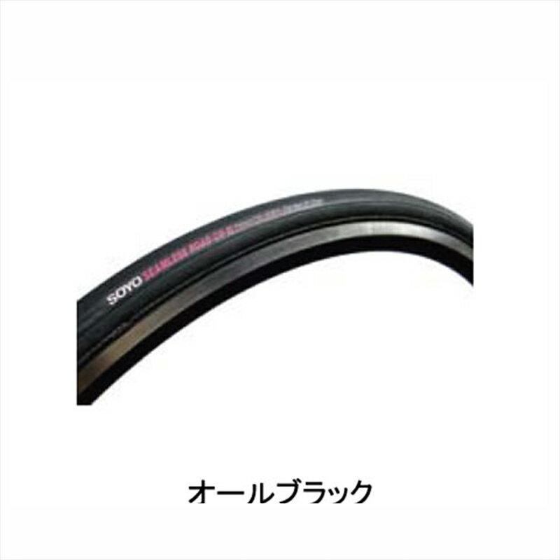 """SOYO TYRE (ソーヨータイヤ) SEAMLESS ROAD CR-II (シームレス ロード CR-2) 28""""×22mm オールブラック[700×22~24c][チューブラータイヤ][タイヤ・チューブ]"""