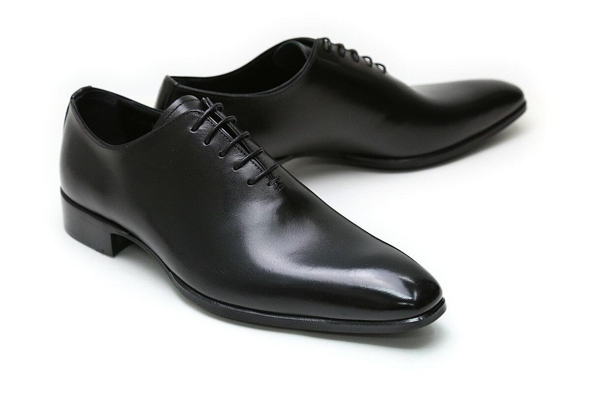 【送料無料】革靴 本革 ビジネスシューズ クインクラシコ Queen Classico メンズ ドレスシューズ 紳士靴 qc711bk ブラック(黒) ホールカット 日本製(国産)