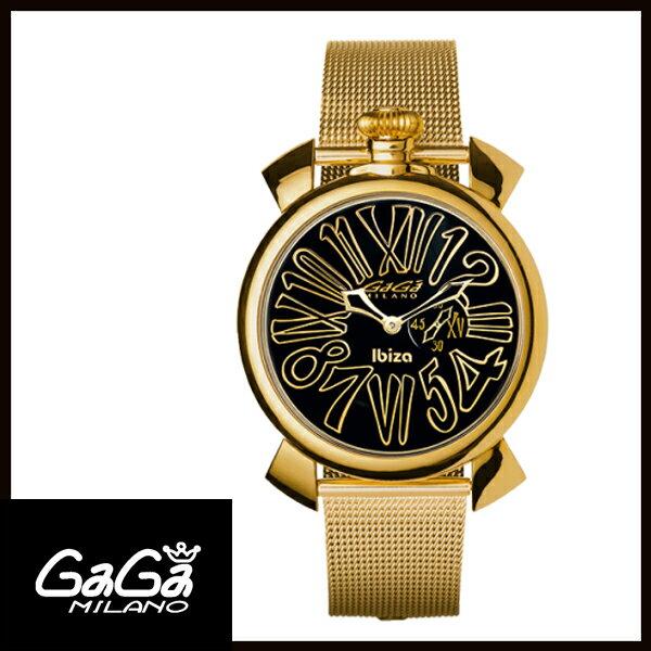 【送料無料】 GAGA MILANO ガガミラノ MANUALE 46MM マニュアーレ メンズ腕時計 5083.LE.IB.01 【新品】 【RCP】【02P12Oct14】
