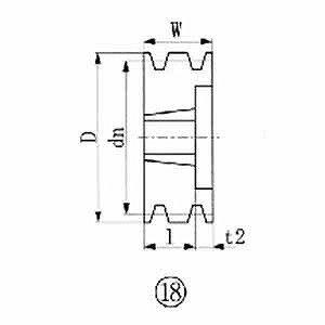 エバオン ブッシングプーリー SPB 206mm 溝数3 SPB2063(送料無料)