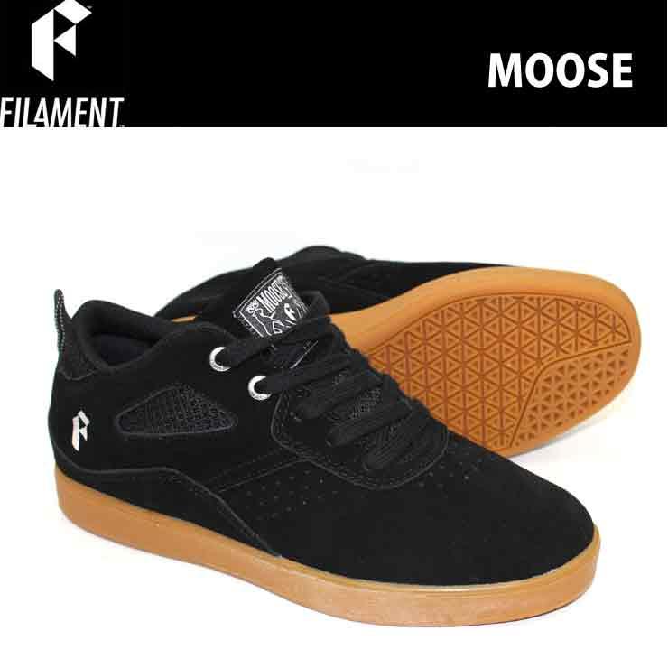 FILAMENT フィラメント スケートシューズ スニーカー MOOSE BLACK/GUM スケシュー スケボーシューズ