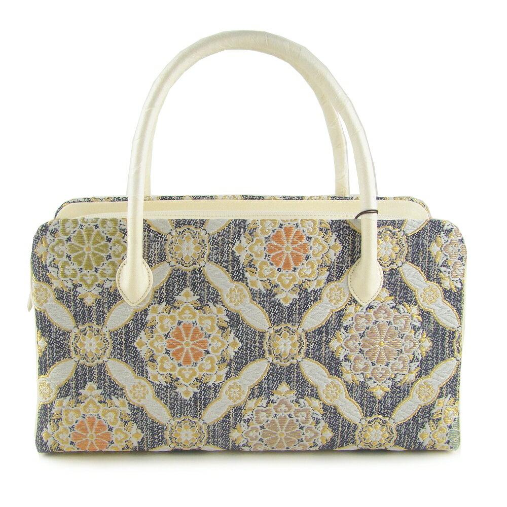 正絹和装バッグ 華襷文 利休バッグ お茶席 フォーマル