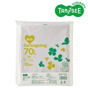 (まとめ)TANOSEE ポリエチレン収集袋 透明 70L 30枚入×15パック【ポイント10倍】