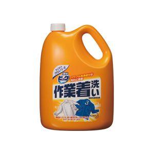 (まとめ)液体ビック作業着洗い 業務用 4.5kg 4個【ポイント10倍】