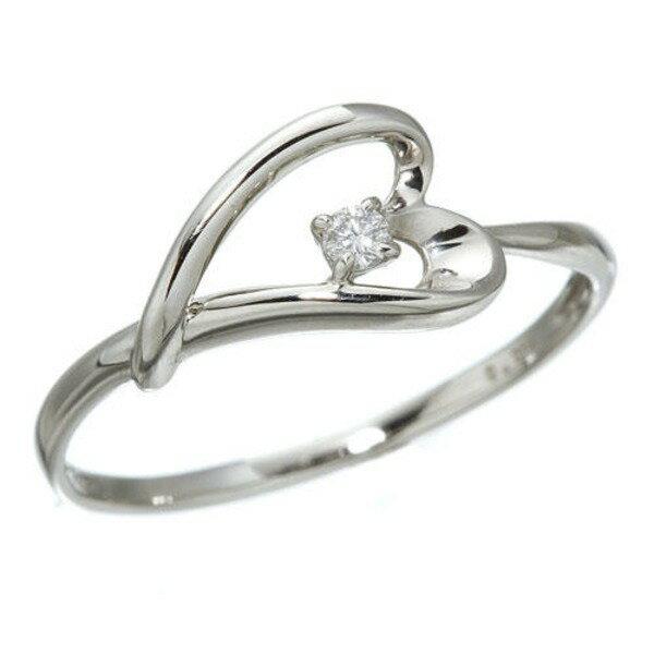 プラチナダイヤモンドデザインリング3型 ウェビングハート 7号【ポイント10倍】