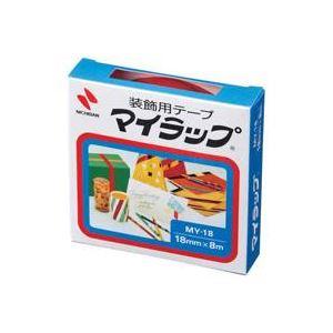 (業務用200セット) ニチバン マイラップテープ MY-18 18mm×8m 赤 ×200セット【ポイント10倍】