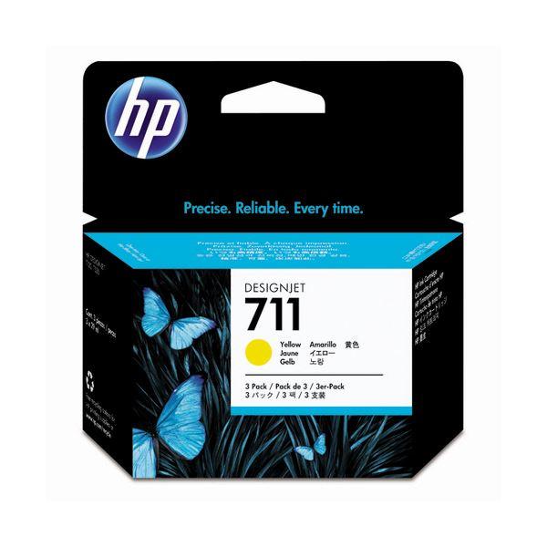 (���) HP711 インクカートリッジ イエロー 29ml�個 染料系 CZ136A 1箱(3個) �×3セット】��イント10�】
