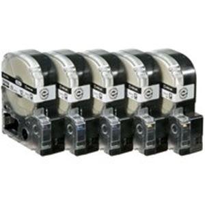 (業務用5セット) キングジム テプラ PROテープ/ラベルライター用テープ 【幅:12mm】 5個入り ロングタイプ SS12KL-5 ホワイト(白) 【×5セット】【ポイント10倍】