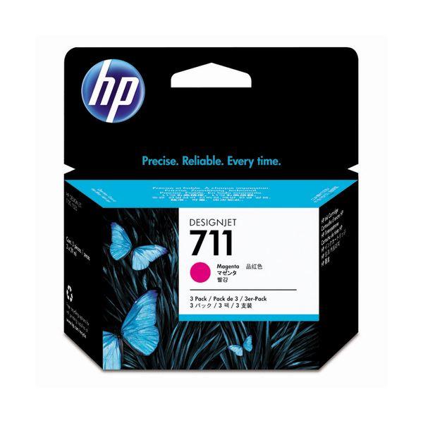 (���) HP711 インクカートリッジ マゼンタ 29ml�個 染料系 CZ135A 1箱(3個) �×3セット】��イント10�】