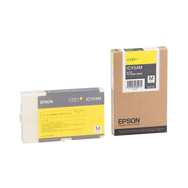 (���) エプソン EPSON インクカートリッジ イエロー Mサイズ ICY54M 1個 �×3セット】��イント10�】