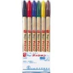 (業務用100セット) 寺西化学工業 ラッションペン M300C-6 細字 6色セット ×100セット【ポイント10倍】