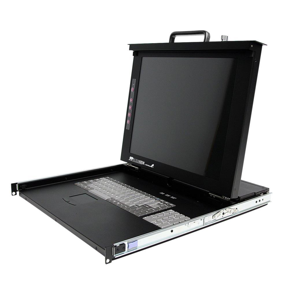 StarTech 1U 17インチ サーバーラック用KVMドロワー ラックマウント型LCD一体型コンソールドロワー 8ポートKVMスイッチ搭載 RACKCONS1708(代引き不可)【ポイント10倍】
