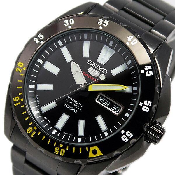 セイコー ファイブ SEIKO 5 スポーツ 自動巻き メンズ 腕時計 時計 SRP363J1 ブラック【ポイント10倍】【楽ギフ_包装】