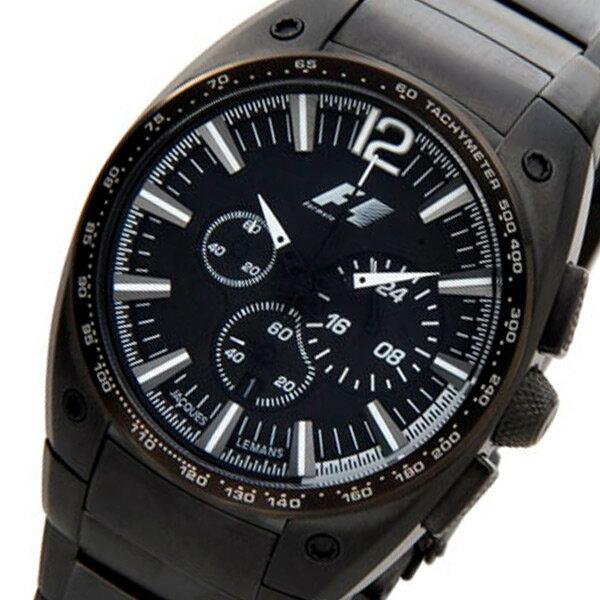 ジャックルマン F1モデル クオーツ メンズ クロノ 腕時計 PF-5011L ブラック【送料無料】【ポイント10倍】【楽ギフ_包装】