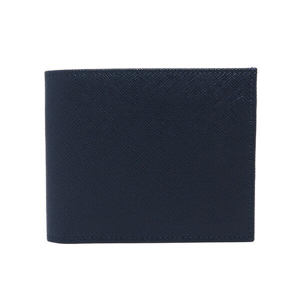 【品質保証書】 シルバノ ビアジーニ 二つ折り短財布 メンズ 7848014 ネイビー【ポイント10倍】【楽ギフ_包装】