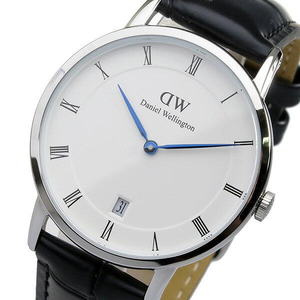 ダニエル ウェリントン ダッパー リーディング/シルバー 34mm 腕時計 時計 DW00100117【ポイント10倍】【楽ギフ_包装】