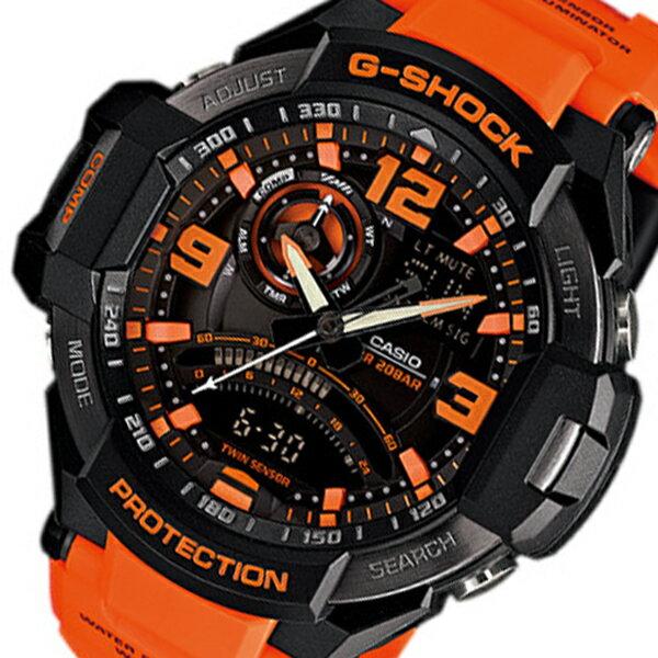 カシオ Gショック スカイコックピット メンズ クオーツ 腕時計 時計 GA-1000-4A オレンジ【ポイント10倍】【楽ギフ_包装】