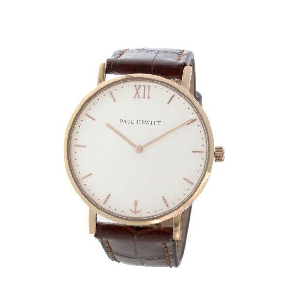 �ールヒューイット Sailor Line 36mm ユニセックス 腕時計 時計 6452341 PHSARSMW14S ホワイト/ブラウン��イント10�】�楽ギフ_包装】