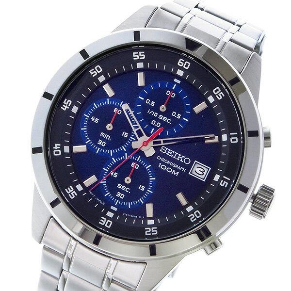 セイコー SEIKO クロノ クオーツ メンズ 腕時計 時計 SKS559P1 ネイビー【ポイント10倍】【楽ギフ_包装】