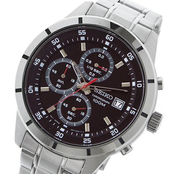 セイコー SEIKO クロノ クオーツ メンズ 腕時計 時計 SKS561P1 ブラック【ポイント10倍】【楽ギフ_包装】
