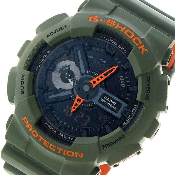 カシオ CASIO Gショック G-SHOCK クオーツ メンズ 腕時計 時計 GA-110LN-3A ブラック【ポイント10倍】【楽ギフ_包装】