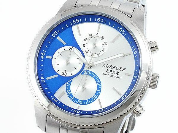 オレオール AUREOLE クロノグラフ 腕時計 時計 SW-575M-5【楽ギフ_包装】【ポイント10倍】