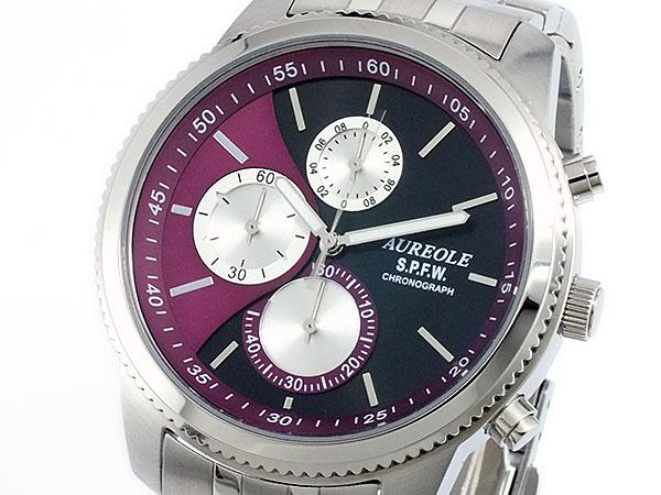 オレオール AUREOLE クロノグラフ 腕時計 時計 SW-575M-7【楽ギフ_包装】【ポイント10倍】